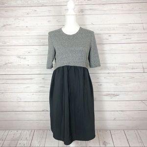 Top Shop Color Block Maternity Dress